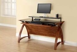 Jual Curve Walnut Computer Desk PC201 1300