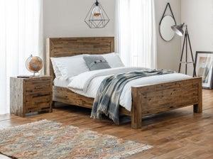 Julian Bowen Hoxton Rustic Oak Bed