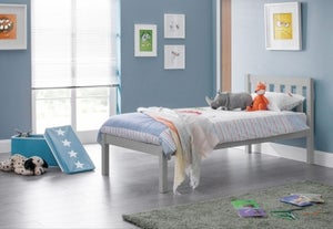 Julian Bowen Luna Dove Grey Bed