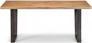 Julian Bowen Brooklyn Rustic Oak Dining Table