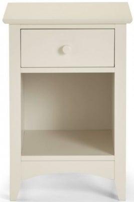 Julian Bowen Cameo White 1 Drawer Bedside Cabinet