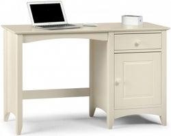 Julian Bowen Cameo White 1 Door 1 Drawer Writing Desk