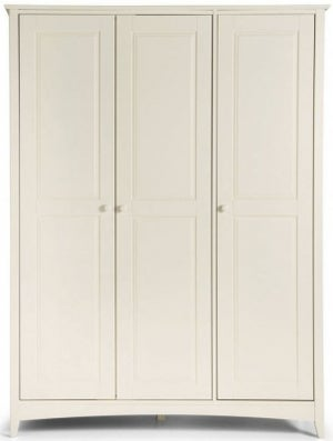 Julian Bowen Cameo White 3 Door Wardrobe