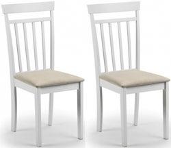 Julian Bowen Coast White Dining Chair (Pair)