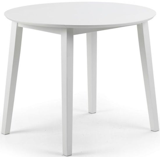 Julian Bowen Coast White Round Extending Drop Leaf Dining Table