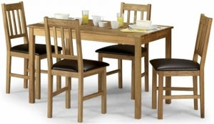 Julian Bowen Coxmoor Oak Dining Table and 4 Chairs