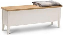 Julian Bowen Davenport Oak and Ivory Painted Bench
