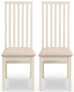 Julian Bowen Vermont Ivory Dining Chair (Pair)