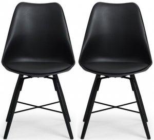 Julian Bowen Kari Black Faux Leather Dining Chair (Pair)