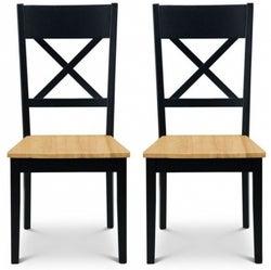 Julian bowen Hockley Oak and Black Dining Chair (Pair)