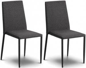 Julian Bowen Jazz Stacking Slate Grey Dining Chair (Pair)