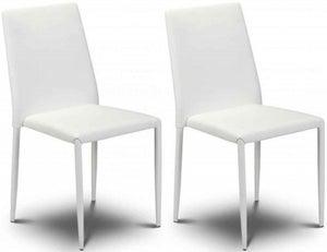 Julian Bowen Jazz Stacking White Dining Chair (Pair)