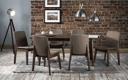Julian Bowen Kensington Walnut Extending Dining Table and Chairs