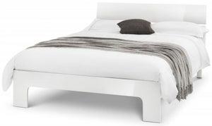 Julian Bowen Manhattan White High Gloss Bed