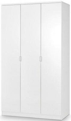 Julian Bowen Manhattan White High Gloss 3 Door Wardrobe