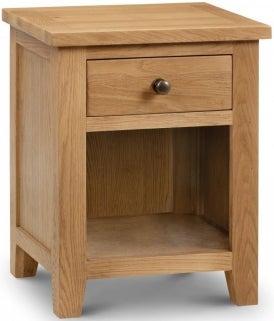 Julian Bowen Marlborough Oak 1 Drawer Bedside Cabinet