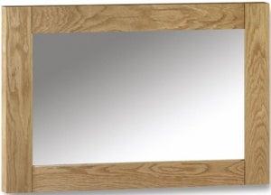 Julian Bowen Marlborough Oak Rectangular Wall Mirror - 100cm x 70cm