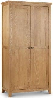 Julian Bowen Marlborough Oak 2 Door Wardrobe