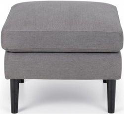 Julian Bowen Monza Grey Linen Fabric Ottoman Stool