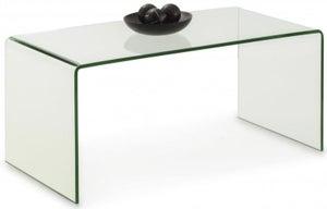 Julian Bowen Amalfi Bent Glass Coffee Table