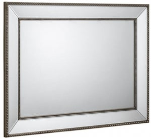 Julian Bowen Symphony Beaded Rectangular Wall Mirror - 110cm x 80cm