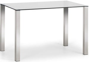 Julian Bowen Enzo Glass and Ghrome Dining Table