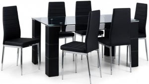 Julian Bowen Greenwich Dining Table and 6 Chair