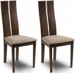 Julian Bowen Cayman Walnut Dining Chair (Pair)