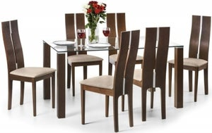 Julian Bowen Cayman Dining Table and 6 Chairs