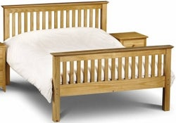 Julian Bowen Barcelona Pine High Foot End 4ft 6in Double Bed