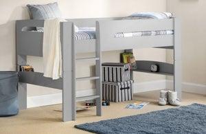 Julian Bowen Pluto Dove Grey Midsleeper Bed