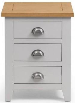 Julian Bowen Richmond Oak and Grey 3 Drawer Bedside Cabinet