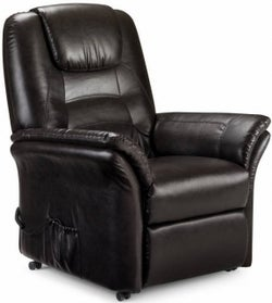 Julian Bowen Riva Rise and Brown Faux Leather Recliner Chair