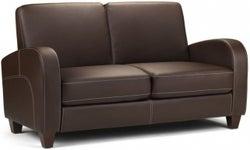 Julian Bowen Vivo Brown Faux Leather 2 Seater Sofa