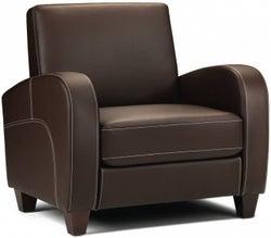Julian Bowen Vivo Brown Faux Leather Armchair