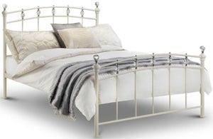 Julian Bowen Sophie White Metal Bed