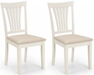 Julian Bowen Stamford Ivory Dining Chair (Pair)