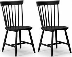 Julian Bowen Torino Lunar Black Dining Chair (Pair)