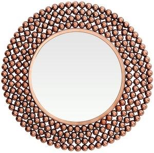 Barnet Copper Beaded Wall Mirror