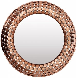 Barnet Copper Pebble Effect Wall Mirror