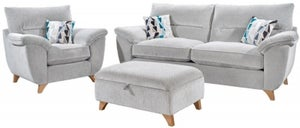 Lebus Billie 3+1 Fabric Sofa Suite with Footstool