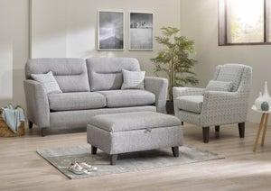 Lebus Clara 3 Seater Fabric Sofa Suite