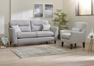 Lebus Clara 3 Seater Fabric Sofa with Accent Chair