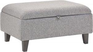 Lebus Clara Fabric Storage Footstool
