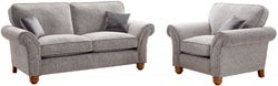 Lebus Vegas 2+1 Seater Fabric Sofa