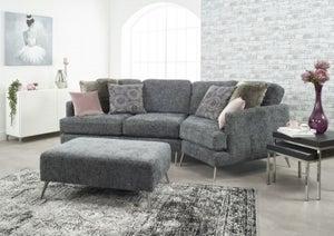 Lebus Venice Cozy Corner Fabric Sofa with Footstool