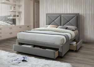 Limelight Cezanne Grey Velvet 3 Drawer Storage Bed