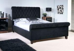 Limelight Orbit Black Velvet Bed
