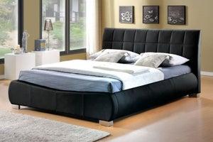 Limelight Dorado Black Faux Leather Bed