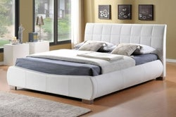 Limelight Dorado White Faux Leather Bed